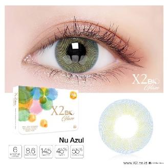 Softlens X2 BIO GLAZE NU AZUL (-3.25 S/D -6.00) / SOFTLENSE MINUS ...